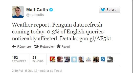 Google Penguin cập nhật lần thứ 3