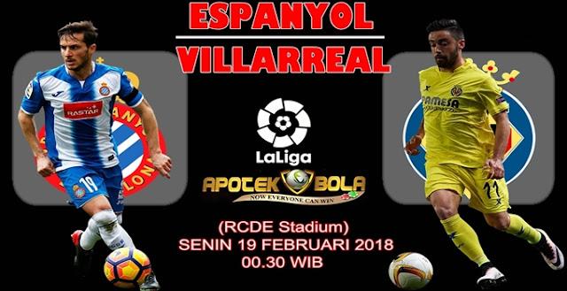 Prediksi Espanyol vs Villarreal 19 Februari 2018