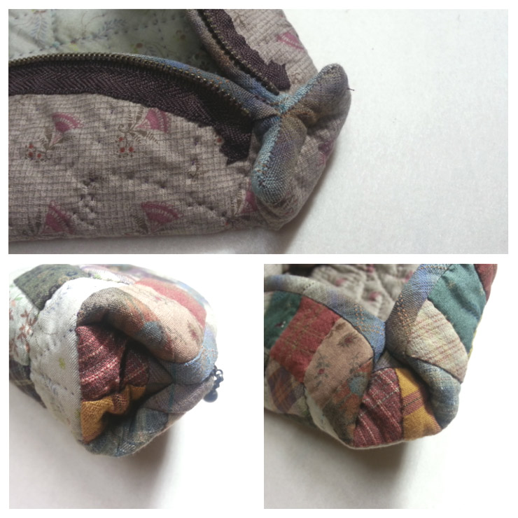 Cute Half-round Zipper Pouch Sewing Tutorial in Pictures.
