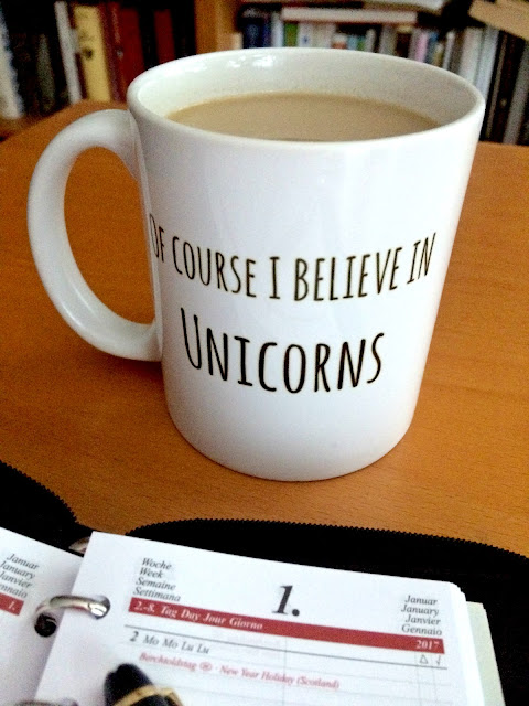 I Believe In Unicorns Mug by Jimmo