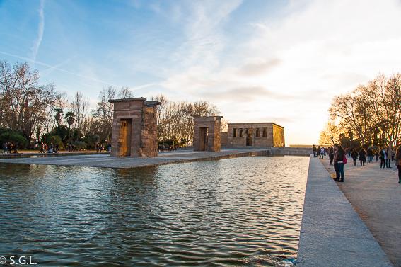 Templo Debod al atardecer. Madrid
