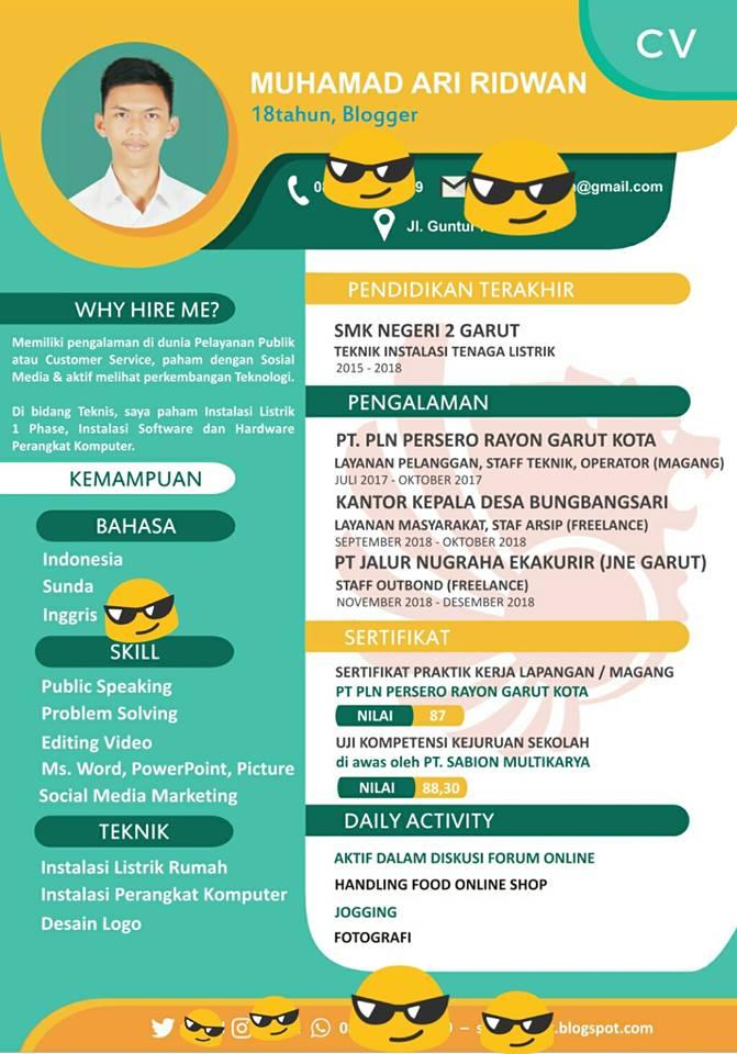 Download Template Lamaran CV Word Lengkap Kreatif ...