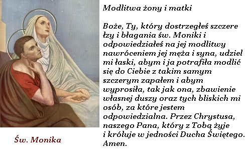 Modlitwa na każdy dzień: Modlitwy do św. Moniki