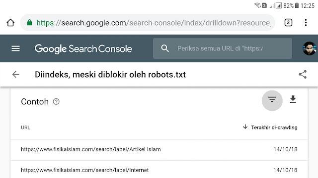 Cara Mengatasi Masalah Postingan Diindeks, Meski diblokir oleh robot.txt