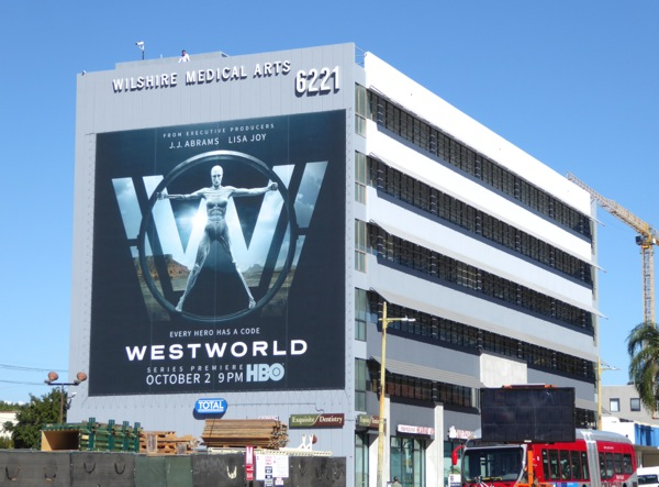 Giant Westworld series premiere billboard