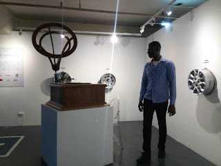 Nwobu Emeka Johnbosco at the 2019 Philippines Art Fair