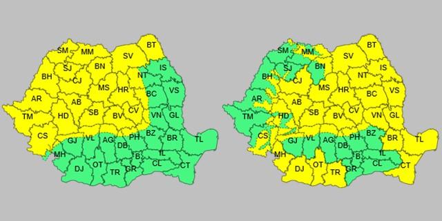 Avertizare cod galben pentru județul Suceava. Urmează o perioadă cu vânt puternic și răcire accentuată a vremii.