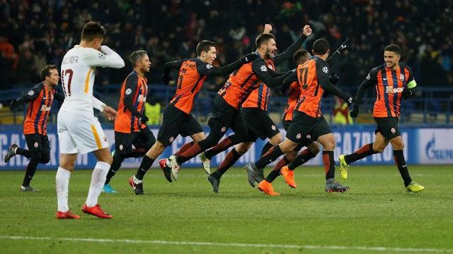 Liga Champions: Shakhtar Tundukkan Roma 2-1
