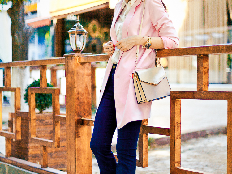 flared jeans asos pink jacket autumn