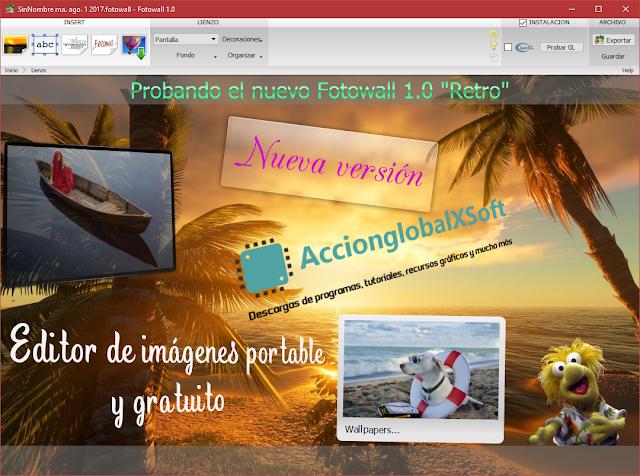 Fotowall v1.0 'Retro' | Crea excelentes collages con este programa portable | Nueva versión