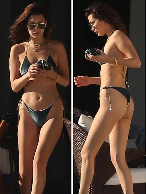 The Bella Hadid with tiny bikini