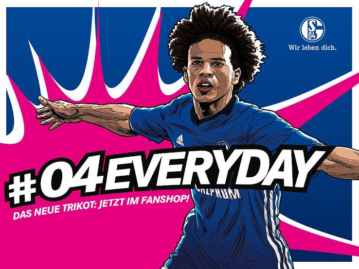 Nueva camiseta titular adidas del Schalke 04 para la próxima temporada