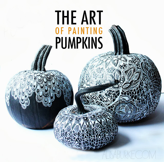 Black White Painted Pumpkins