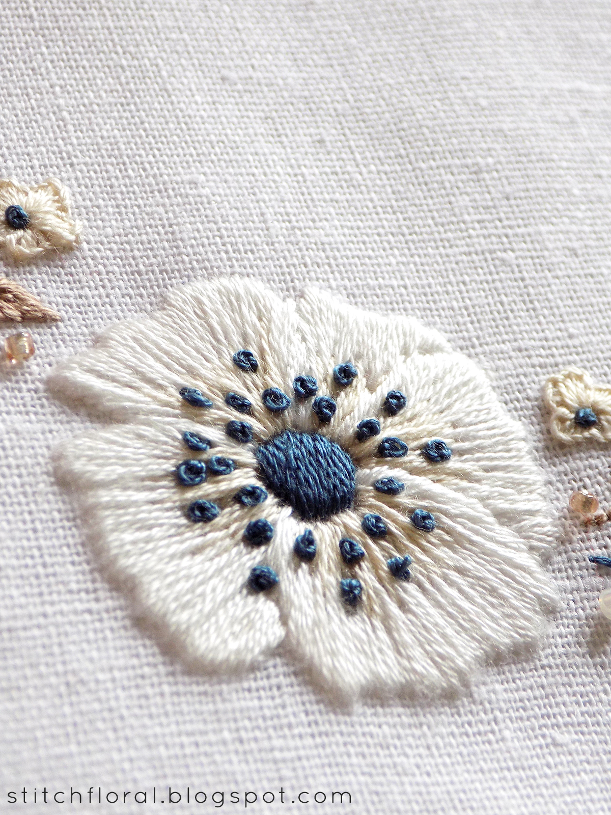 embroidered anemones