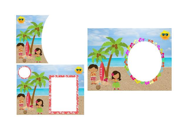 Fiesta Hawaiana de Chicas: Invitaciones para Imprimir Gratis.