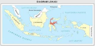 peta sulawesi Tengah dalam gugusan peta indonesia