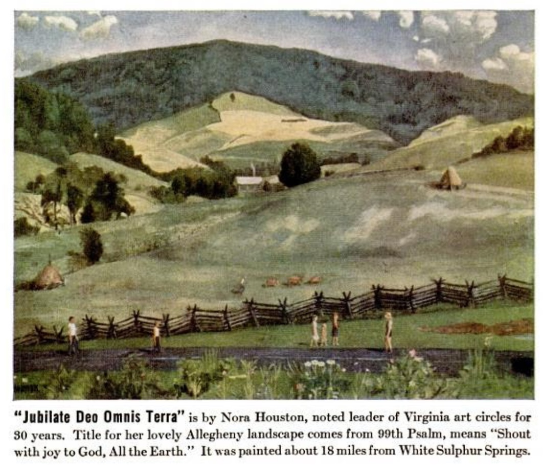 title of her lovely allegheny landscape comes from 99th psalm means shout with joy to