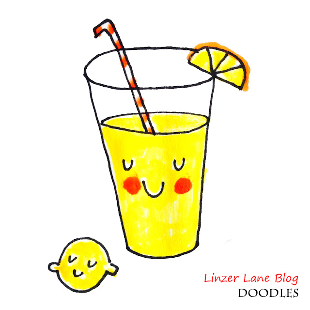 How to Draw a Cute Lemonade in 5 Steps | Linzer Lane Blog