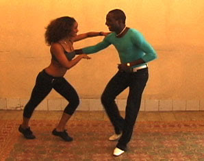 Salsa with personal dance style and creativity