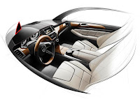 2011 Mercedes-Benz M-Class W 166 Design Sketches preliminary interior