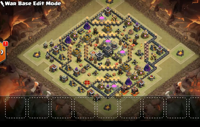 Th9 War Base 2017 With Bomb Tower Anti Valkyrie Anti Everything