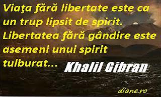 Libertatea - Khalil Gibran