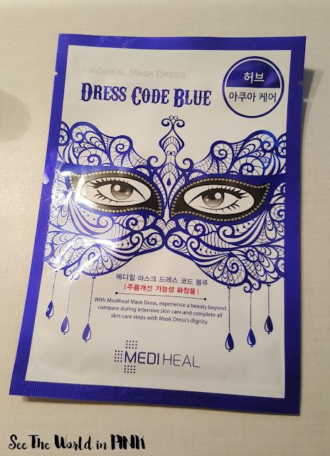 beauty clinic mediheal dress code blue mask