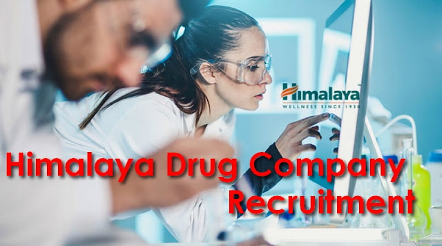 Himalaya Drug Company Recruitment