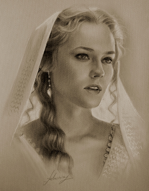 02-Diane-Kruger-as-Helen-of-Troy-krzysztof20d-Portrait-Drawings-with-a-few-Celebrities-www-designstack-co