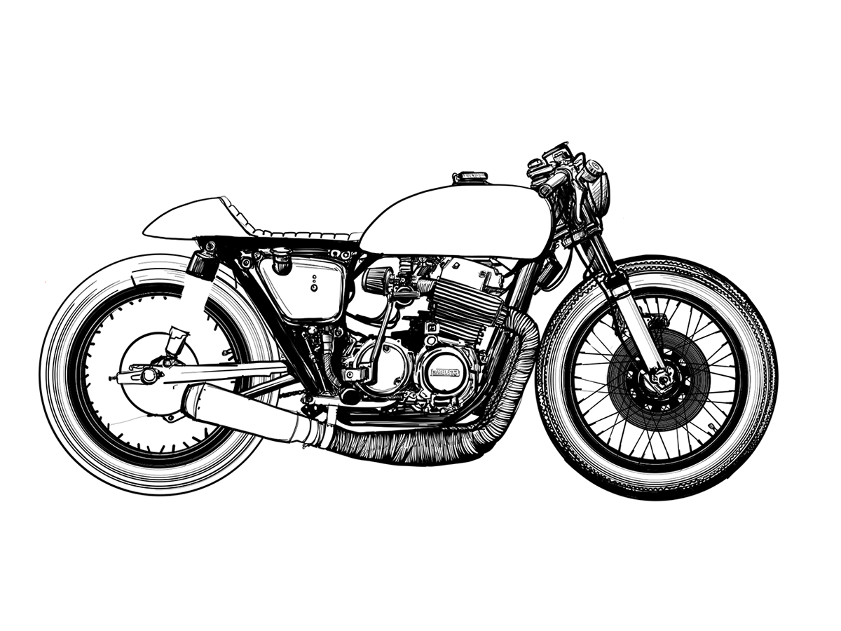 Cafe Racer Drawing