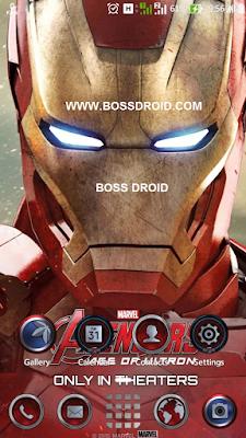 Themes Iron Man untuk Asus Zenfone 2