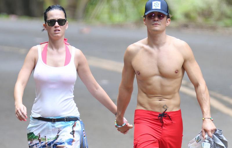 Orlando Bloom y Katy Perry cogidos de la mano