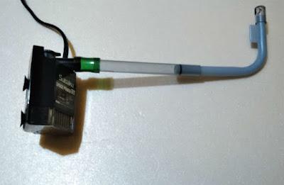 スドーサテライトの給水パイプにスペースパワーフィット+Sを取り付ける