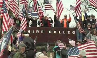 Hundreds Of Veterans Protest Massachusetts College That Took Down American Flag