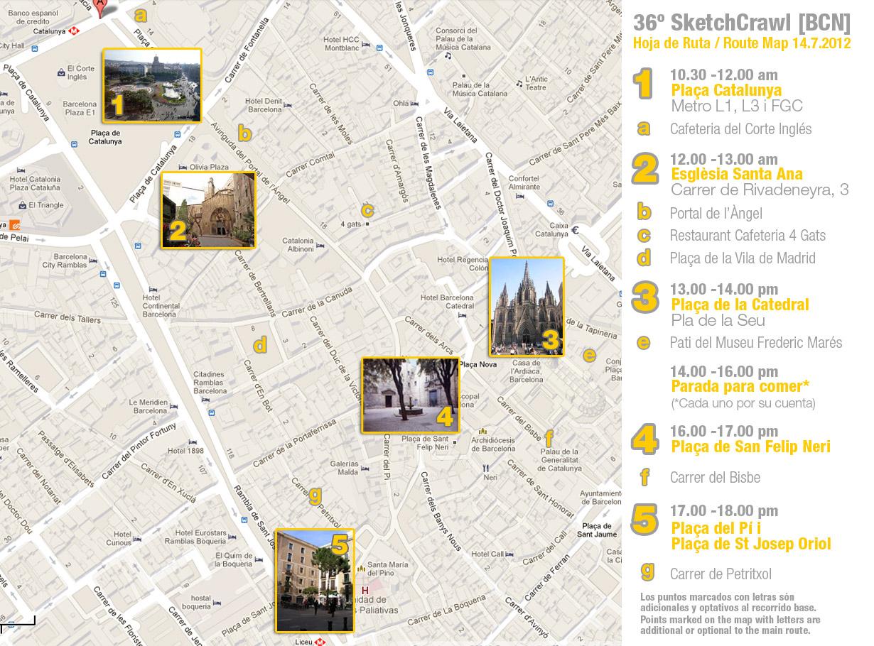 Concurso De Dibujo Urbano En Libreta Fnac Madrid: Barcelona's Sketchcrawl: July 2012