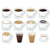 いろいろな種類のコーヒーのイラスト