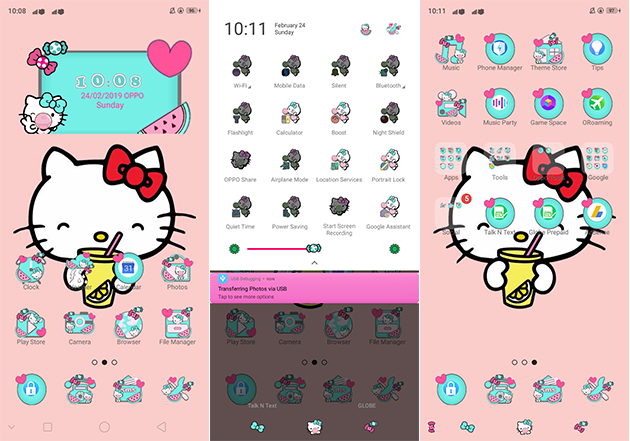 Oppo Theme: Oppo A3s Gummy Kitty Theme