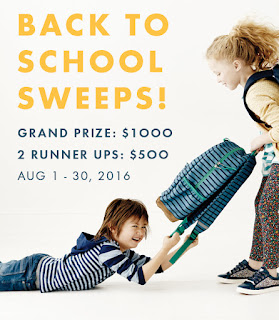 Enter the Hanna Andersson Back to School Sweeps for $1,000 in kid's clothing. Ends 8/30