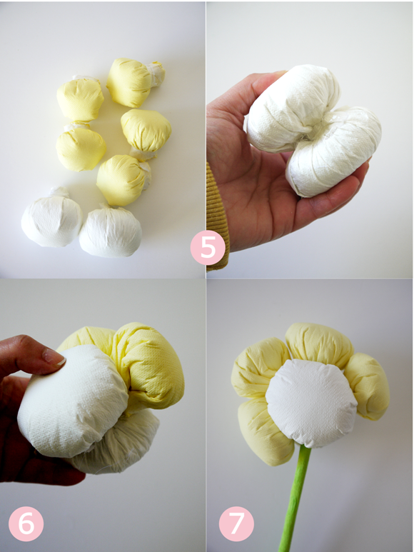 Diy no sew easy plush paper flowers party ideas party printables tutorial no sew express plush paper flowers made from paper napkins mightylinksfo