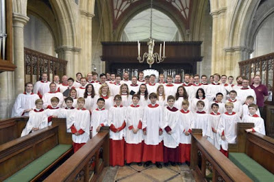 Choirs at the 2015 Edington Festival with Jeremy Summerly, Matthew Martin, Peter Stevens and Benjamin Nicholas - photo Wiltshire Times
