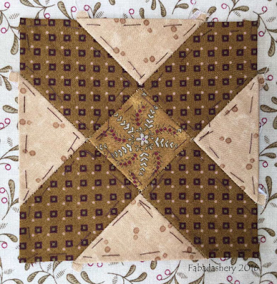 Dear Jane Quilt - Block D7 Meeting Place