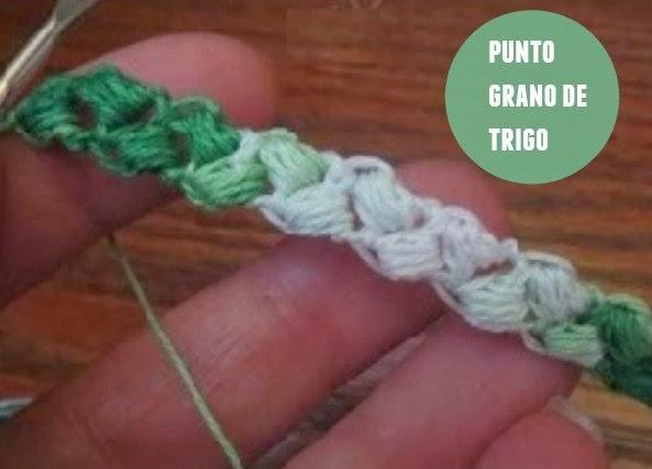 Punto de Crochet Grano de Trigo