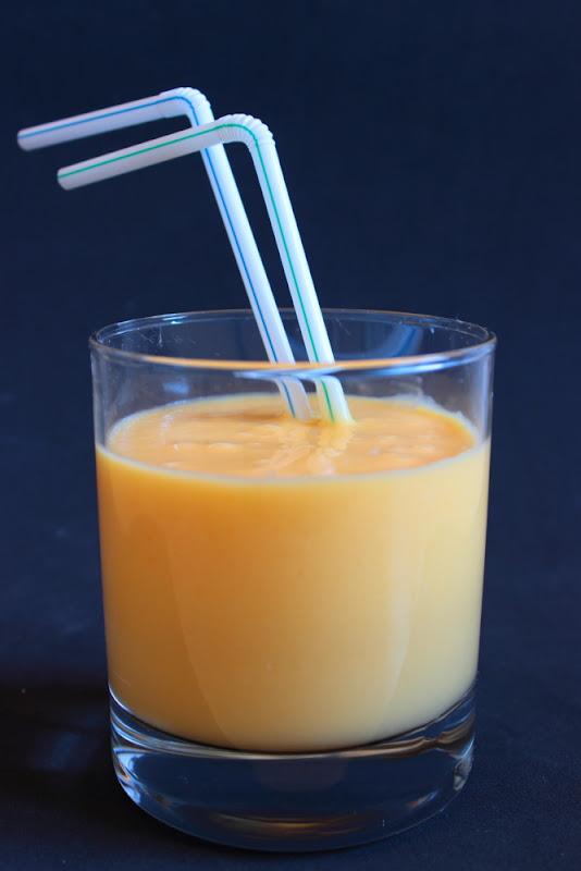 Smoothie de melocotón y mango