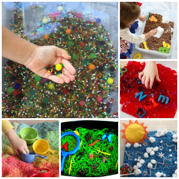 52 MUST-TRY SENSORY BINS FOR KIDS.  Great ideas here!! #activitiesforkids #sensorybins