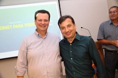 Prefeito Renato Soares participa de lançamento do Programa Internet para Todos