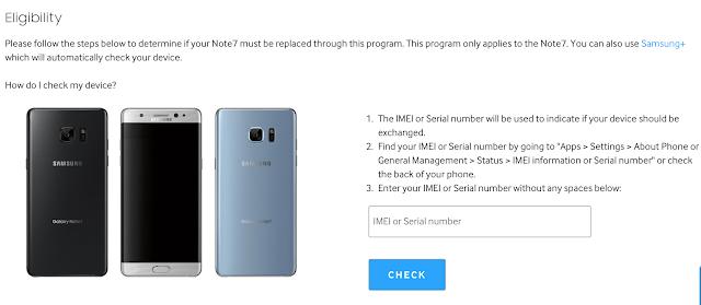 三星在美國官網推出的 IMEI 手機查詢工具