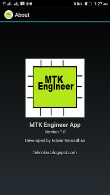 MTK Engineer App Version 1.0 For Android 6.0 and lower version
