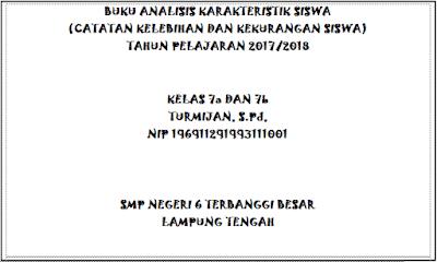 Buku Analisis Karakteristik Siswa Tahun 2017/2018