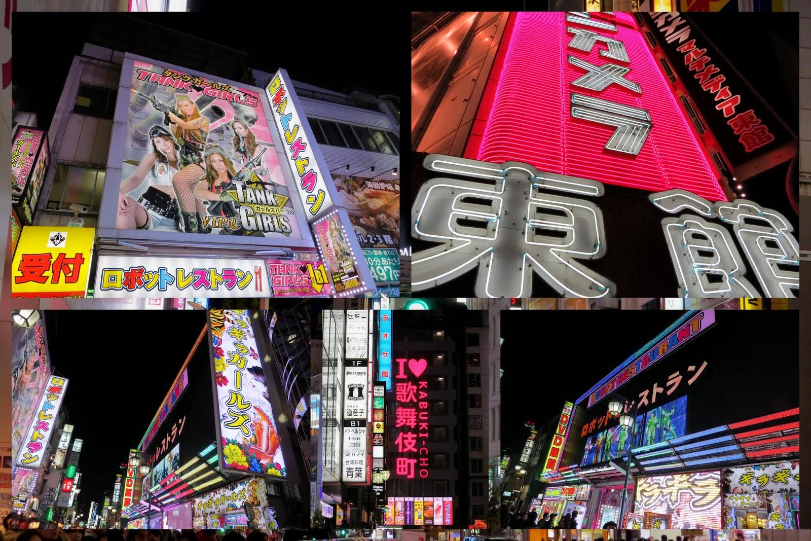 Tokyo neighborhoods - Shinjuku at night