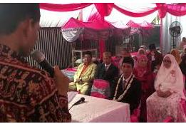 Contoh Sambutan Penyerahan Calon Pengantin Pria untuk Dinikahkan Oleh Pihak Wanita.